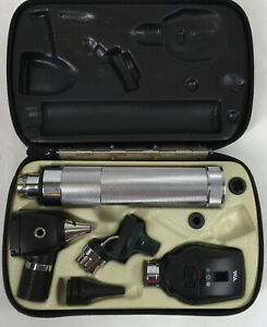 Welch Allyn Otoscope Ophthalmoscope Set With Case 05250 New Battery Read