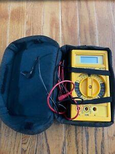 Beckman Digital Multimeter Hd 100 Heavy Duty 20727826 Tested With Leads