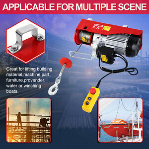 500 1000kg Electric Cranes Hoist Winch Lifting Engine Cable Garage Overhead