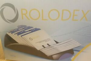 Opened Box Rolodex 67261 Business Card File W 200 Slotted Cards By Sanford