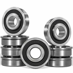 8 Pcs 1 2 Flanged Ball Bearing Precision Id 1 2 X Od 1 3 8 Lawn Mower For