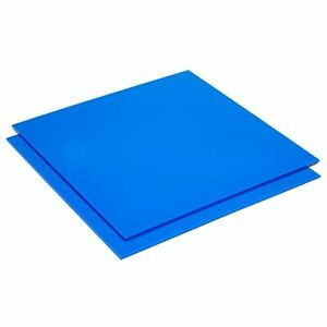 Blue Acrylic Plexiglass Sheet 1 8 Inch Thick 3mm 12x12 In 2 Pack