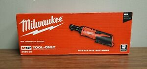 Milwaukee 2456 20 M12 Cordless 1 4 Ratchet Variable Speed Trigger Tool Only New