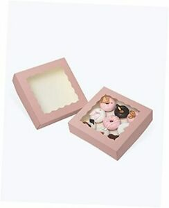 10 10 2 5 Pie Bakery Boxes With Window 20 Packs Large 20packs 10 10 2 5 Pink