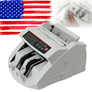 Money Bill Counter Machine Cash Counting Counterfeit Detector Uv Mg Bank Cash Us