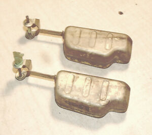 Two 2 Mopar Tq Carb Brass Floats W pins Thermoquad Dodge Plymouth Chrysler