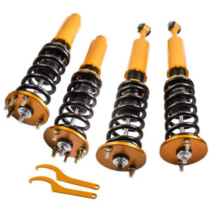Set Of 4 Coilovers Struts Shock Absorbers For Honda Accord 1998 2002 Adj Height