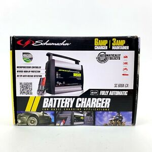 Schumacher Speed Charge Automatic 2 4 6 Amp Battery Charger Maintainer 6v 12v