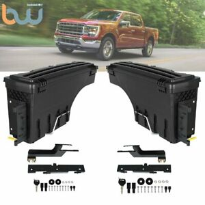 Driver Passenger Side Swing Case Wheel Well Tool Box For 2015 2018 Ford F 150