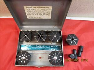 Jacobs Engineering J911 Series Rubber Flex Collets 5 Pc Set In W Case Extras