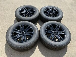 20 Ford F150 Factory Wheels Rims Gloss Black Oem F 150 20 Inch Tires New