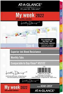 2022 Weekly Monthly Planner Refill By At a glance Day timer Size 4 Kd81 285y