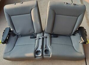 Rear Seats Honda Element 2010 Grey Cloth Fold Flat With Cup Holders