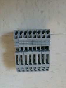 Wago 282 696 Two Conductor Fuse Terminal Block lot Of 8