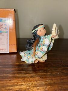 Enesco Friends Of The Feather Indian One Who Lifts Spirits 267775 Figurine