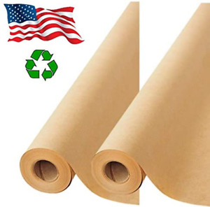 2 Pack Brown Kraft Paper Made In Usa 17 75 X 1200 Per Roll 200 Feet Ideal Fo