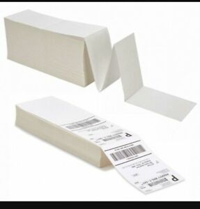 500 4 x6 Fanfold Direct Thermal Shipping Labels For Zebra And Rollo Printers