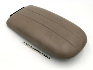 97 02 Ford Expedition Center Console Armrest Cover Lid Brown W Stitching