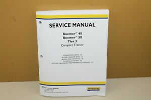 New Holland Service Manual Boomer 40 50 Tier 3 48080051 Steering Wheels Electric