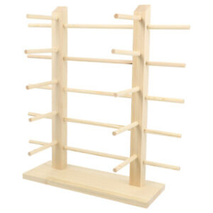 1pc Sunglasses Holder Durable Wood Display Rack Stand For Eyewear Store