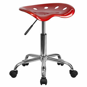 Flash Furniture Wine Red Tractor Seat Chrome Stool Lf 214a winered gg