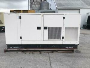 _100 Kw Cat Olympian Generator Set Sound Attenuated Year 2005 472 Hours F