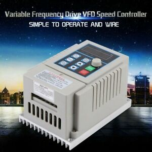 0 75kw Single Phase 3ph Variable Vfd Speed Drive Frequency Converter Pwm Control