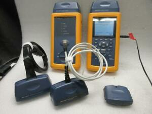 Fluke Dsp 4000 Cable Analyzer Smart Remote W Adapters