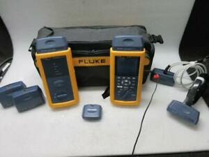 Fluke Dsp 4300 Cable Analyzer Smart Remote W Adapters Bag