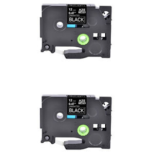 2pk Compatible With Brother Pt 1810 Tz335 Tze335 White On Black Label Tape 0 47