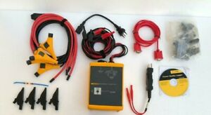 Fluke 1744 Power Quality Logger Memobox With Accessories Cd Soft Carry Case