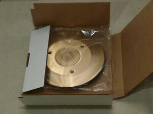 Hubbell Sf2525 Round Floor Box Cover flange Brass 2 125 x0 75 Combination6 25