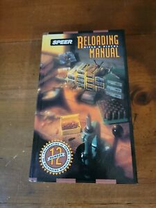 Speer Reloading for Rifle amp; Pistol Manual Number 12 Edition Hardcover Book $20.00
