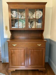 Suters Handcrafted Cherry Step Back Cupboard China Cabinet