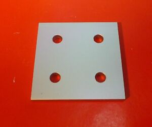 8020 80 20 Equivalent Aluminum 4 Hole Joining Plate 15 Series P n 4367 New