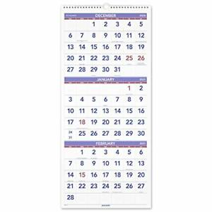 2021 Wall Calendar By At a glance 12 X 27 Large Vertical 3 month Reference