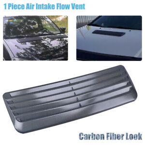 Carbon Fiber Style Print Scoop Intake Vent Car Universal Front Hoods Vent Cover Fits 2005 Ford Mustang