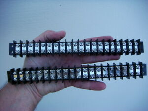 Lot Two 2 20 position Terminal Blocks strips New And Unused