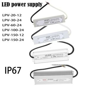 Waterproof Transformer Power Supply Adapter Driver For Led Strip 5 12 24 36 48v