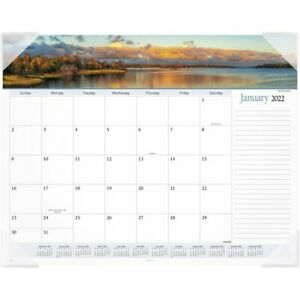 At a glance 2022 Landscape Panoramic Monthly Desk Pad Large 21 34 X 17 Desk