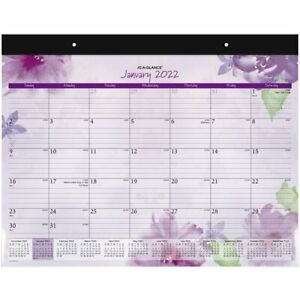 At a glance Beautiful Day 2022 Monthly Desk Pad Calendar Standard 21 34 X 17