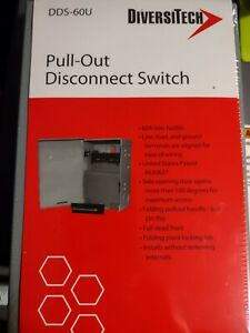 New Diversitech Dds 60 Fused 60a Boxed Pull Out Fusible Disconnect Switch