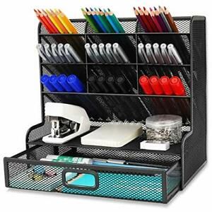 Desk Organizer 9 Compartments With A Storage Rack Drawer Holder For Office