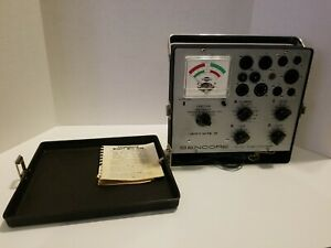 Vintage Sencore Mighty Mite Lll Tube Tester Tc 130 With Book Works