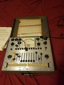 Vtg Eico 666 Dynamic Conductance Tube And Transistor Tester Parts Or Repair