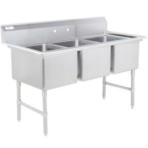 81 3 compartment Stainless Steel Commercial Restaurant Kitchen Pot And Pan Sink