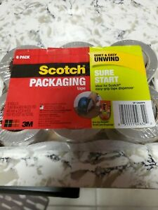 6 Pack Scotch Start Shipping Packaging Tape 1 88 x 22 2 Yard Heavy Duty Packing