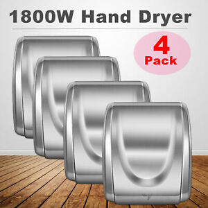 4pcs Electric Auto Hand Dryer 1800w High Speed Commercial And Household Use