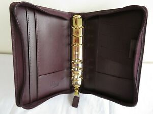 Franklin Covey Quest Pocket 7 8 Rings Planner Binder Leather Zip Brown Usa