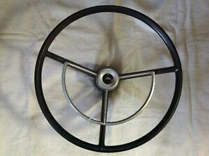 Vintage Ford Steering Wheel W Horn Ring 17 Dia Falcon Galaxie Truck